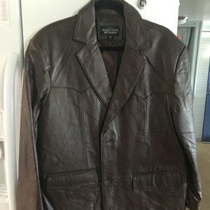 44s Chocolate Brown Leather Sport Coat / Blazer